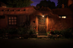 Santa Fe Pueblo. Pueblo home in Sant Fe, New Mexico Royalty Free Stock Images