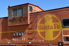 Santa Fe Railroad Caboose Car Royalty-vrije Stock Foto's