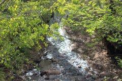 Santa Fe River. On East Alameda St, Santa Fe, NM Stock Images