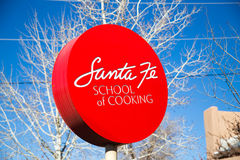 Santa Fe School of Cooking Sign Stock Photography