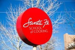 Santa Fe School des Kochens des Zeichens stockfotografie