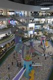 Santa Fe Shopping Center in the city of Medellin from the top floor stock photo