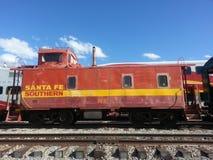 Santa Fe Southern Railroad Caboose Stock Foto's