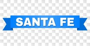 Blue Ribbon with SANTA FE Text royalty free illustration