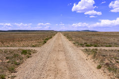Santa Fe Trail. Signs and rough roads formerly SF Trail Stock Image