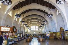 Santa fe train station interior Stock Photo