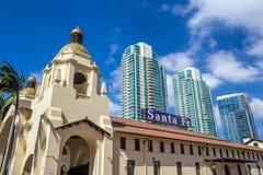 Santa Fe Union Station i San Diego Royaltyfri Foto
