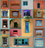 Santa Fe Windows. A collection of unusual window styles found in and around Santa Fe, New Mexico Stock Image