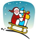 Santa felice Fotografie Stock Libere da Diritti