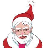 Santa felice ha isolato illustrazione di stock