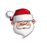 Santa felice - testa Fotografia Stock Libera da Diritti