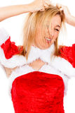 Santa femelle folle Images libres de droits