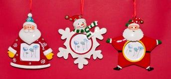 Santa Figurines Royalty Free Stock Photography