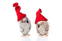 Santa figurines isolated on white Royalty Free Stock Photos
