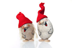 Santa figurines isolated on white Stock Photography