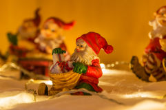 Santa figurines Stock Images
