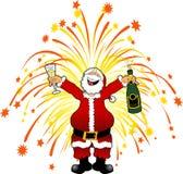 Santa_fireworks_2 Stock Image
