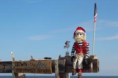 Santa Claus Fisherman  Stock Images