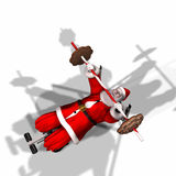 Santa Fitness 3 Stock Image