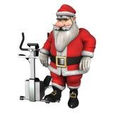 Santa Fitness Fotografia Stock