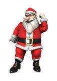 Santa Fitness Fotografie Stock