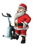Santa Fitness Immagine Stock