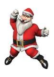 Santa Fitness Royalty Free Stock Photography
