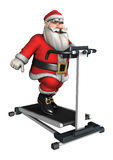 Santa Fitness Royalty Free Stock Photo