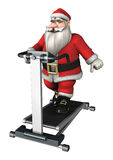 Santa Fitness Royalty Free Stock Image