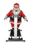 Santa Fitness Royalty Free Stock Images