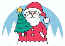 Santa Flat Design vector illustratie