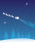 Santa Flying Royalty Free Stock Photos