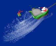 Santa Flying His Sleigh Stock Image