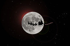 Santa flying Stock Photos