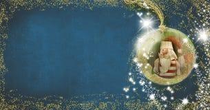 Santa, fondo per la redazione delle cartoline di Natale Immagini Stock