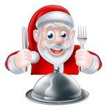Santa Food Concept Imágenes de archivo libres de regalías
