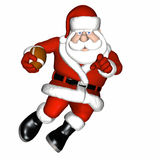 Santa Football 2 Royalty Free Stock Photos