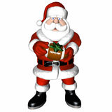 Santa Football 4 Stock Image