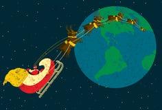Santa fournissant des présents Images libres de droits