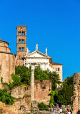 Santa Francesca Romana Church en Roman Forum Fotografía de archivo