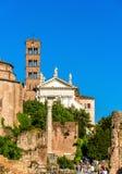 Santa Francesca Romana kościół w Romańskim forum Fotografia Stock