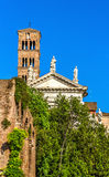 Santa Francesca Romana kościół w Romańskim forum Fotografia Royalty Free