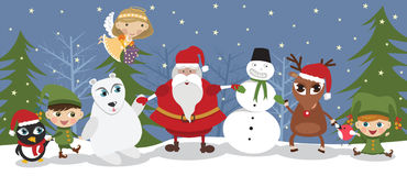 Santa and friends Royalty Free Stock Photography