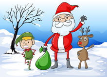 Santa and friends Royalty Free Stock Photo