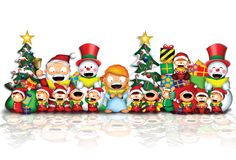 Santa & friends Royalty Free Stock Images