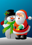 Santa and frosty Stock Image