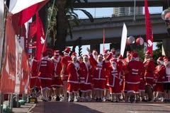 Santa fun run Royalty Free Stock Photo