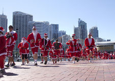 Santa fun run Royalty Free Stock Photo