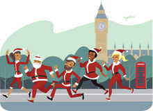 Santa Fun Run Royalty Free Stock Images