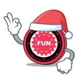 Santa FunFair coin mascot cartoon. Vector illustration Royalty Free Stock Image